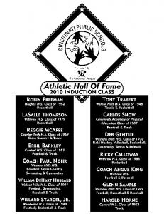 Athletic Hall of Fame.