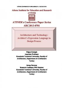 ATINER's Conference Paper Series ARC2013-0701