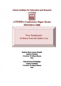 ATINER's Conference Paper Series DEM2014-1008