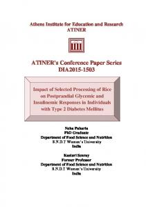 ATINER's Conference Paper Series DIA2015-1503