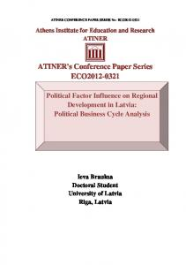 ATINER's Conference Paper Series ECO2012-0321