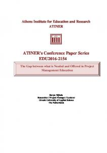 ATINER's Conference Paper Series EDU2016-2154