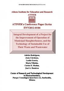 ATINER's Conference Paper Series ENV2012-0104