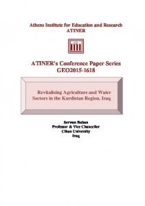 ATINER's Conference Paper Series GEO2015-1618