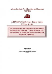ATINER's Conference Paper Series HIS2018-2561