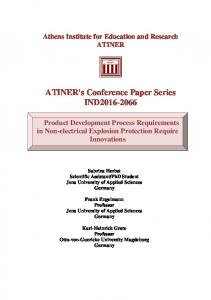 ATINER's Conference Paper Series IND2016-2066