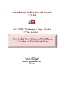 ATINER's Conference Paper Series LIT2018-2488
