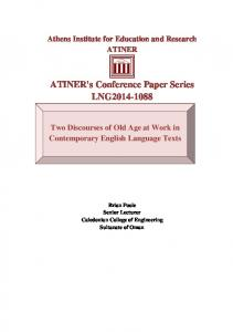 ATINER's Conference Paper Series LNG2014-1088