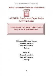 ATINER's Conference Paper Series MDT2012-0061