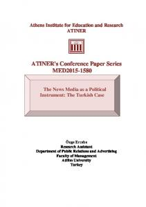 ATINER's Conference Paper Series MED2015-1580