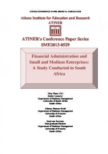 ATINER's Conference Paper Series SME2013-0529 Financial ...