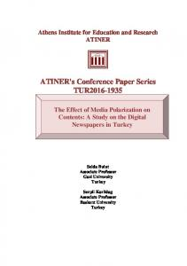 ATINER's Conference Paper Series TUR2016-1935