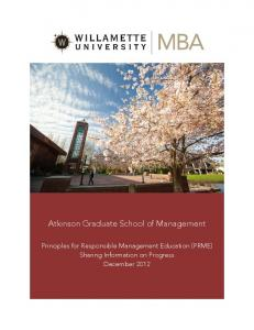 Atkinson Graduate School of Management - Principles for ...