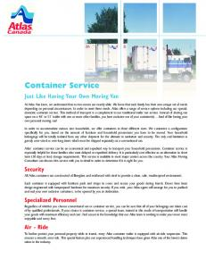 Atlas Container Service