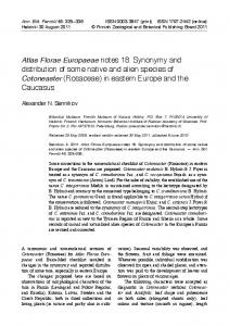 Atlas Florae Europaeae notes 18. Synonymy and distribution of some ...