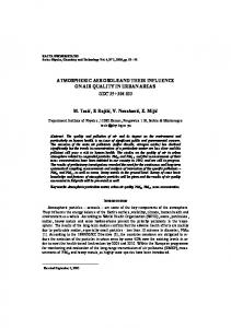 ATMOSPHERIC AEROSOLS AND THEIR INFLUENCE ON ... - doiSerbia