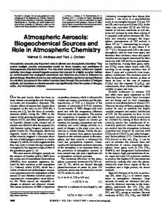 Atmospheric Aerosols: Biogeochemical Sources and ... - Caltech GPS