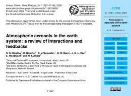 Atmospheric aerosols in the earth system