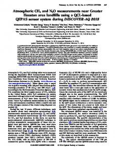 Atmospheric CH4 and N2O measurements near ... - OSA Publishing
