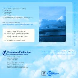 Atmospheric Chemistry and Physics Flyer