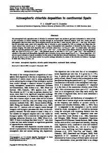 Atmospheric chloride deposition in continental ... - Wiley Online Library