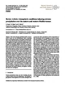 Atmospheric conditions inducing extreme precipitation over the ...