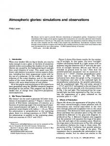 Atmospheric glories: simulations and observations