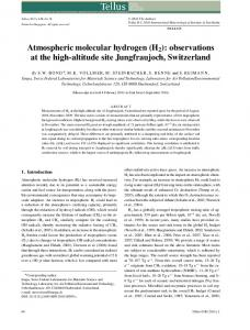 Atmospheric molecular hydrogen (H2): observations at the high ...