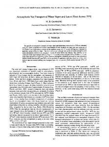 Atmospheric Net Transport of Water Vapor and