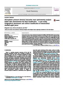 Atmospheric pressure chemical ionisation mass spectrometry ... - Core