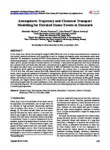 Atmospheric Trajectory and Chemical Transport Modelling for ...