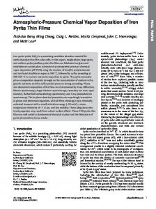 AtmosphericPressure Chemical Vapor Deposition of Iron Pyrite Thin