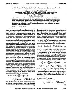 Atom Binding and Reflection by Spatially Inhomogeneous ...
