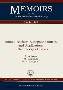 Atomic Boolean Subspace Lattices and Applications