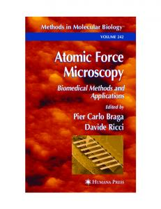 Atomic Force Microscopy Atomic Force Microscopy