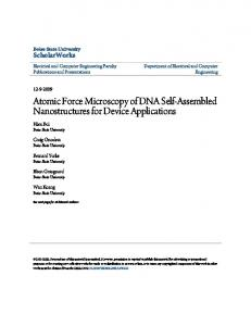 Atomic Force Microscopy of DNA Self-Assembled Nanostructures for ...