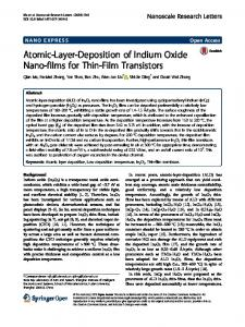 Atomic-Layer-Deposition of Indium Oxide Nano