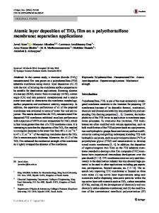 Atomic layer deposition of TiO2 film on a polyethersulfone membrane