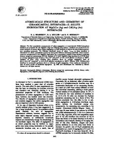 ATOMIC-SCALE STRUCTURE AND CHEMISTRY OF ... - NUCAPT