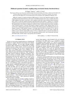 atomistic coupling using constrained density