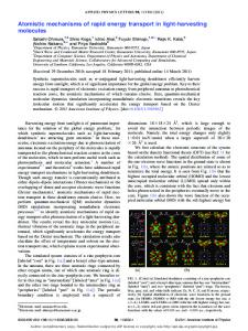 Atomistic mechanisms of rapid energy transport in light ... - CACS