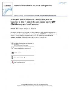 Atomistic mechanisms of the double proton transfer in ...