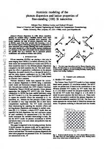 Atomistic modeling of the phonon dispersion and lattice properties of ...