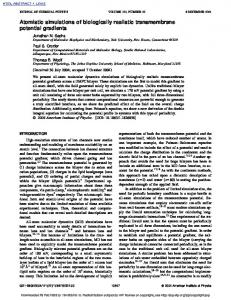 Atomistic simulations of biologically realistic transmembrane potential ...
