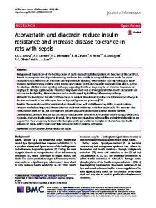Atorvastatin and diacerein reduce insulin resistance and increase ...