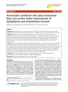 Atorvastatin combined with poly-unsaturated fatty acid ... - Springer Link