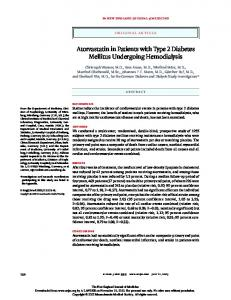 Atorvastatin in Patients with Type 2 Diabetes