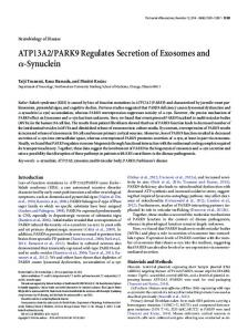 ATP13A2/PARK9 Regulates Secretion of ... - Semantic Scholar