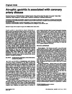 Atrophic gastritis is associated with coronary artery disease - J-Stage