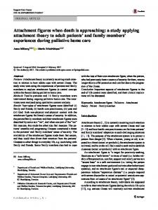 Attachment figures when death is approaching: a study ... - Core